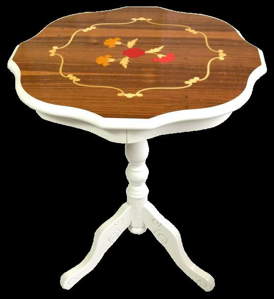木製象嵌コーヒーテーブル(イタリア製)