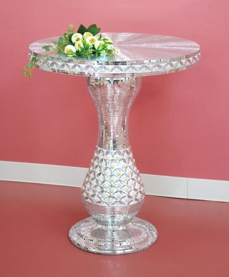 白銀サイドテーブル