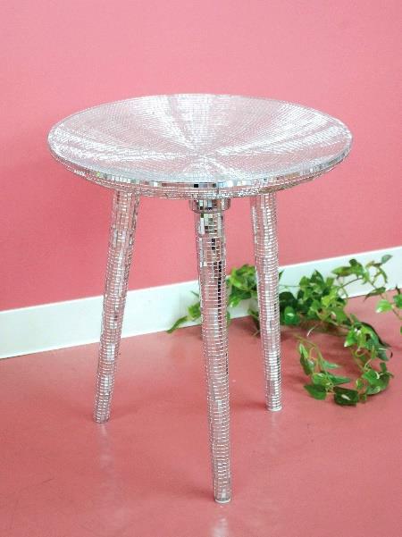 ミラーモザイクテーブル