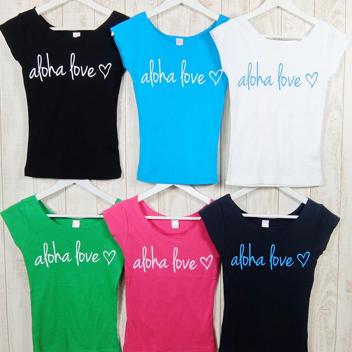aloha loveプリントのフレンチスリーブTシャツ ネコポスOK love フレンチTシャツ フラTシャツ フラレッスン SALE 綿100 コットン ヨガ リゾート レディース 部屋着 プレゼント Poli ウォーキング ギフト ハワイ パウスカート ポリプメハナ 格安SALEスタート リラックス Pumehana