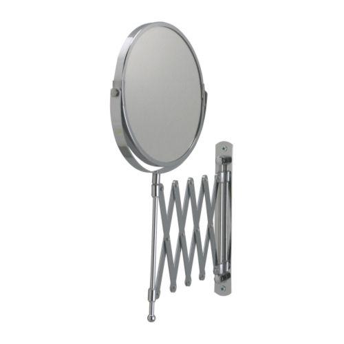 防水仕様なので 湿気の多い場所でも使用できます IKEA Original 割引も実施中 FRACK -フレック- ステンレススチール ウォールミラー 片面 拡大鏡 最新号掲載アイテム 伸縮