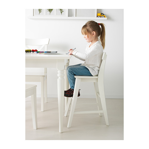 【IKEA Original】INGOLF 子供用チェア ホワイト