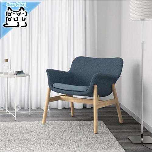【IKEA Original】VEDBO ヴェードボー アームチェア グンナレド グンナレド ブルー 1人掛けソファ