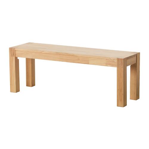 【IKEA Original】NORDBY ウッドベンチ ゴムノキ無垢材 125cm