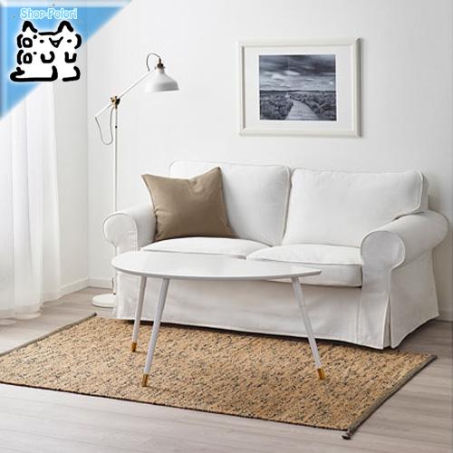 【IKEA Original】MELHOLT メルホルト ラグ 平織り, 手織り ナチュラル, ダークブルー133x195cm