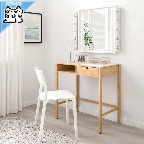 【IKEA Original】NORDKISA 机 デスク ドレッシングテーブル 竹 76x47 cm