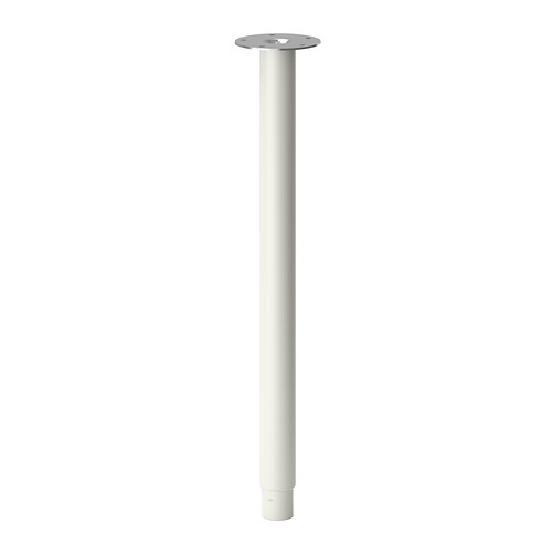 伸縮式なので色々なデスクセッティングが可能です IKEA Original OLOV -オーロヴ- 伸縮式 可変域60-90cm 値下げ 高品質新品 1本 70 脚 テーブル ホワイト cm