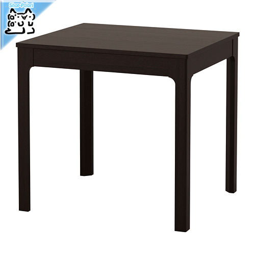 【IKEA Original】ikea テーブル EKEDALEN 伸長式テーブル ダークブラウン 80/120x70 cm 2~4人用