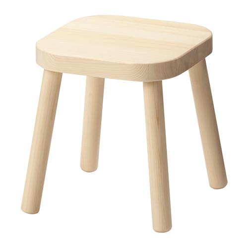 品質検査済 シンプルでかわいい木製スツール IKEA ランキングTOP10 Original FLISAT -フリサット- パイン無垢材 24x24 子供用スツール cm