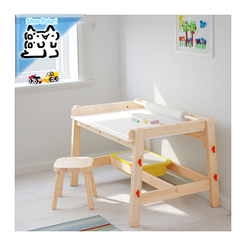 【IKEA Original】FLISAT 子供用デスク アジャスタブル 学習机 53-72cm