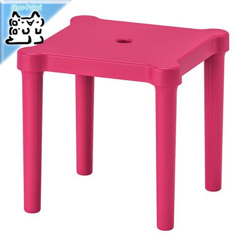 外でも使える丈夫な子供用の可愛い椅子 IKEA Original 高品質新品 UTTER -ウッテル- 子供用スツール ピンク 28x28 屋外用 室内 cm 超激安特価