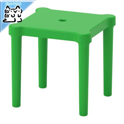 訳あり 外でも使える丈夫な子供用の可愛い椅子 ◆在庫限り◆ IKEA Original UTTER -ウッテル- 子供用スツール 室内 グリーン cm 屋外用 28x28