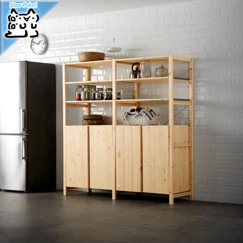 【IKEA Original】IVAR 収納 棚 キャビネット パイン材 80x50x83 cm