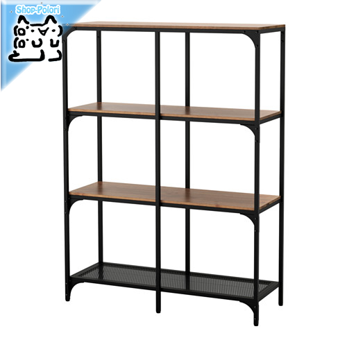 【IKEA Original】FJALLBO 書棚 本棚 シェルフユニット ブラック 100x136 cm