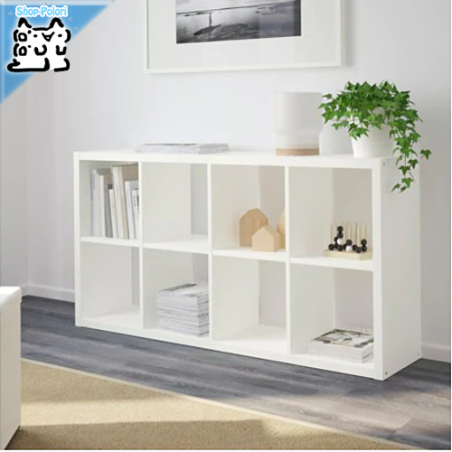 【IKEA Original】FLYSTA 収納 棚 シェルフユニット ホワイト 69x132x31 cm