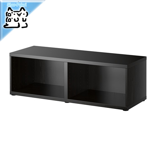 -送料無料-【IKEA Original】BESTA シェルフ/テレビ台 フレーム ブラックブラウン 120x40x38 cm