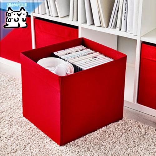 出し入れや持ち運びに便利な持ち手付き! 【IKEA Original】DRONA -ドローナ- 収納ボックス レッド 33x38x33 cm ボックス