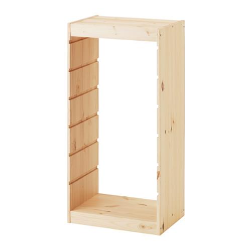 -送料無料-【IKEA Original】TROFAST-トロファスト- 組み合わせ収納フレーム ライトホワイトステインパイン パイン材 44x91 cm