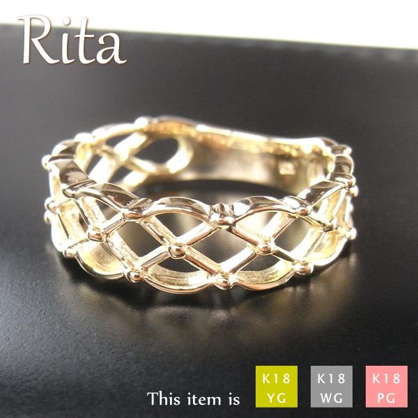 リング 指輪 レディース 18金 k18 ゴールド [Rita]
