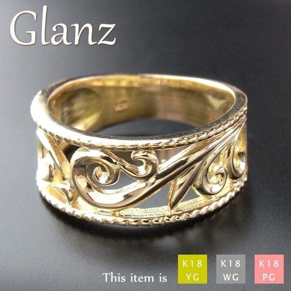 リング 指輪 レディース 18金 k18 ゴールド [Glanz]