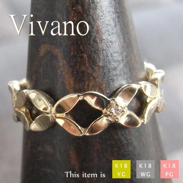 ピンキーリング 18k 18金 ダイヤモンド リング 指輪 [Vivano] 華奢 シンプル ダイヤ k18 ゴールド 小指 レディース ピンキー 女性用 プレゼント マイナス 小さい サイズ 細 ring  -2号 -1号 0号 1号 2号 3号 4号 5号 6号 7号