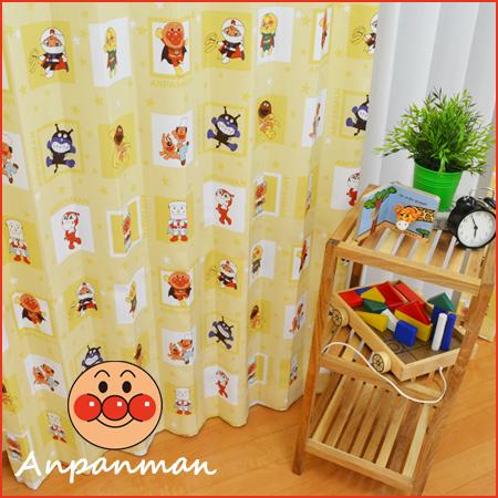 ●日本製● アンパンマン カーテン 子供部屋カーテン 女の子 男の子 イエロー ドキンちゃん バイキンマン キッズカーテン 子ども オーダーカーテン かわいい あんぱんまん ピンク キャラクター KSA60065 東リ
