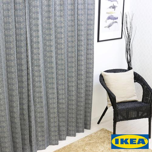 カーテン【IKEA】イルドリッド グレー 綿100% 北欧 おしゃれカーテン 輸入 ピッタリサイズ シンプル 目隠し 試着室 オーダーメイド モノトーン 男性 新生活 一人暮らし オシャレ かっこいい リビング