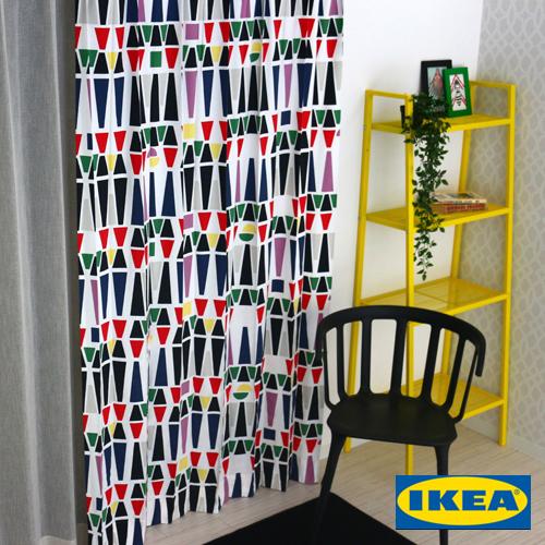 子供部屋 カーテン【マリゼン】【IKEA】カラフル 綿100% おしゃれ 自然素材 コットン 幾何学模様 北欧 海外 オーダーカーテン モダン インテリア 人気 リビング