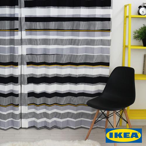 カーテン【セブラグレース】【IKEA】天然素材 北欧カーテン おしゃれ ブルックリン 輸入カーテン イケア シンプル 黄色 デザイナーズ モダン かっこいい 人気 定番 ボーダー ブラック グレー 男性 メンズ 大きいサイズ 送料無料
