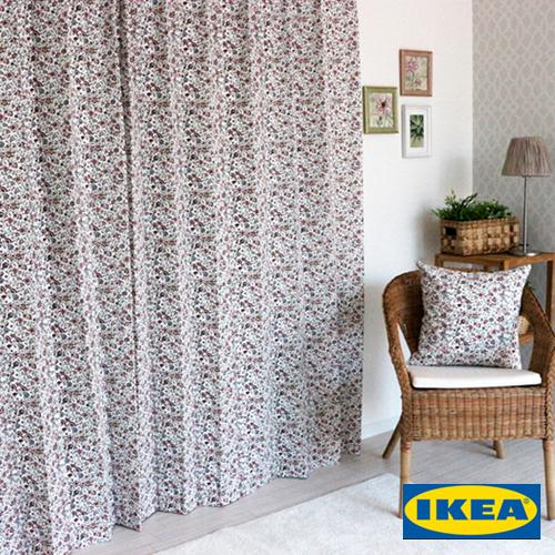 イケア カーテン「シグブリット Sigbritt」IKEA 花柄 綿100% 北欧カーテン おしゃれカーテン カーテン IKEAカーテン ピッタリサイズ シンプル 目隠し カラフル