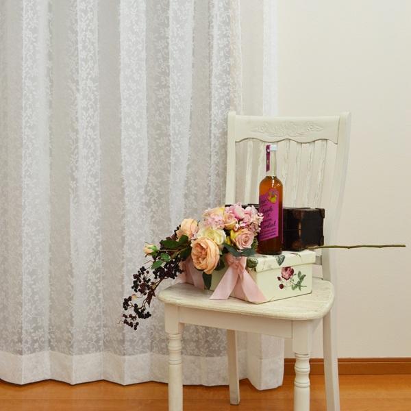 ●日本製● 花柄 ミラーレースカーテン