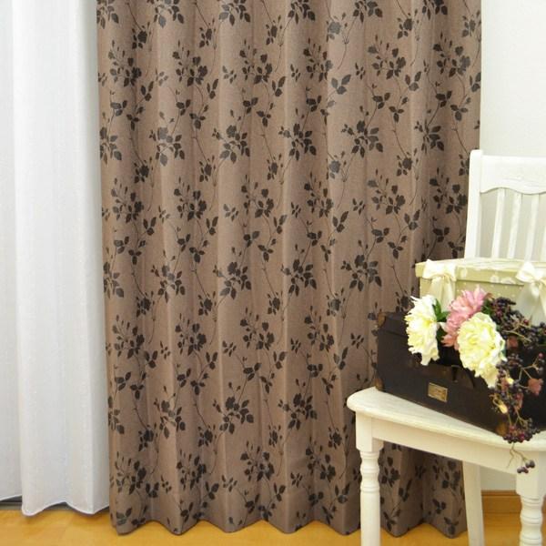 ●日本製● 花柄 ウォッシャブルカーテン