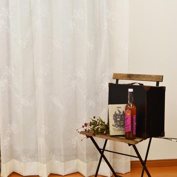●日本製● 刺繍レースカーテン