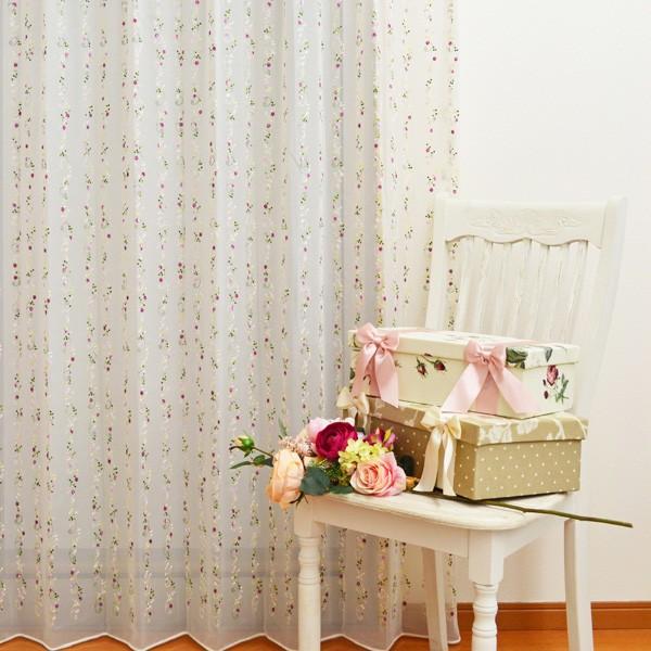 ●日本製● 高級刺繍レースカーテン