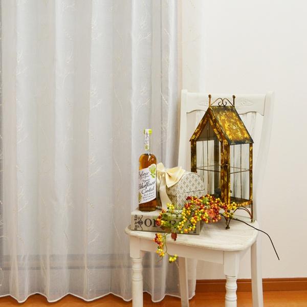 ●日本製● 花刺繍レースカーテン