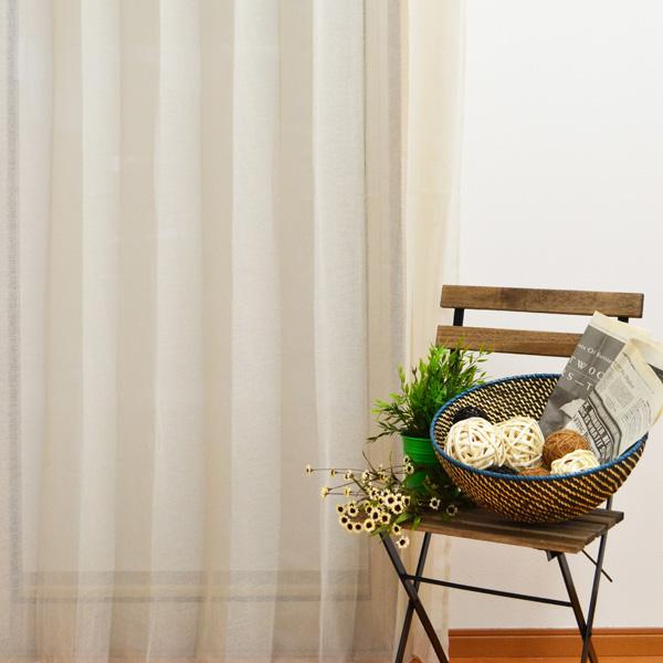 ●日本製● 天然素材風レースカーテン
