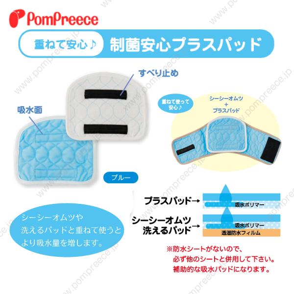 【定価の30%OFF】[おためし1枚入]マナーベルト対応 オス用洗えるパッド2 3・4号 [ポンポリース]