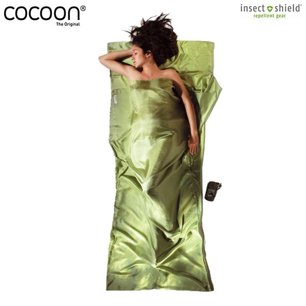 Cocoon(コクーン) IST91 サファリ トラベルシーツ シルク ヴァイン サファイアグリーン / 寝袋 シュラフ