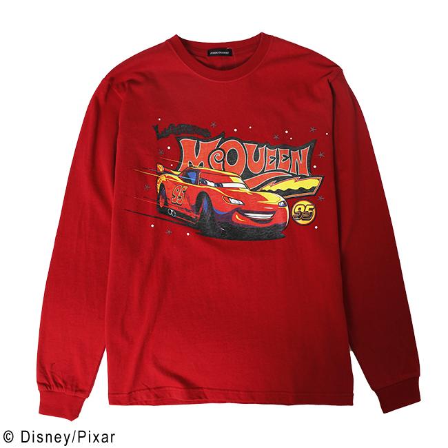 パニカムトーキョー キャラクターファッションの通販専門店 Disney 4年保証 Pixar ディズニー 無料サンプルOK カーズ マックィーン ピクサー ライトニング ロングスリーブTシャツ