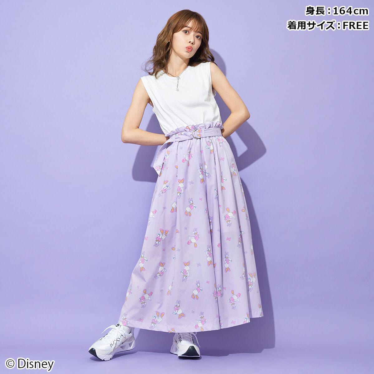 特別セール品 パニカムトーキョー キャラクターファッションの通販専門店 Disney ディズニー 総柄スカート デイジーダック 新商品 新型 82comb
