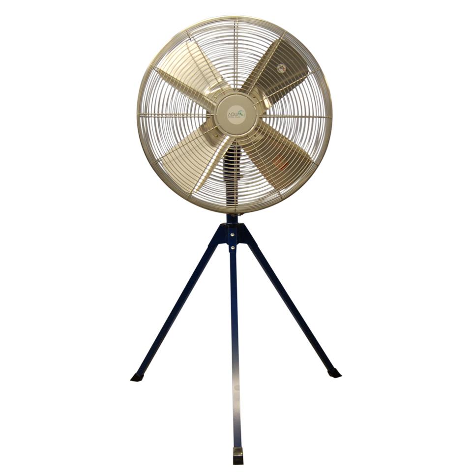 換気でコロナ対策 AFG-24NL-P エアモーター式 工場扇 無給油タイプ アクアシステム 日本初 / 送風機 扇風機 青 ブルー 工場扇風機 業務用 工業扇風機 三脚 床置き スタンドタイプ 工場用 AFG24NL