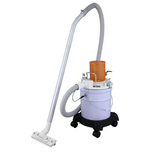 乾湿両用型エア式クリーナーSAC-101 アルミ製 集じん容量16L ペール缶用単相100V 工業用 乾湿両用クリーナー集塵機 スイデン