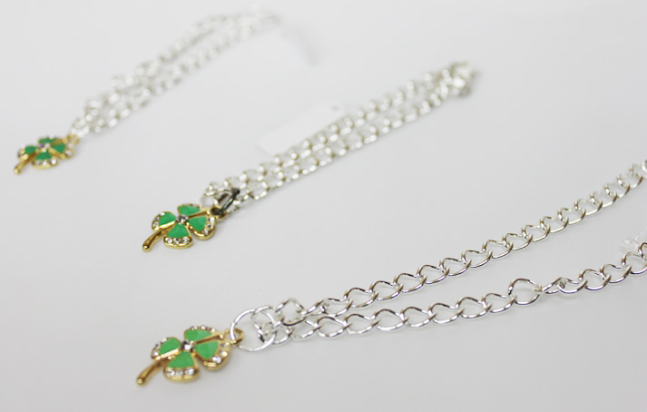 Until the chain necklace four leaf ( clover ) / Rainbow / neck circumference up to 36 m / 5,000 yen or more / 10P28oct13 /