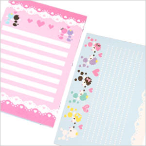 Fashionable poodle note book 3 book set