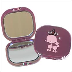 Poodle KISS Romantica lines stone mirror