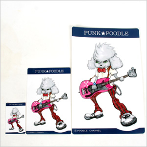 In the original PUNK ★ POODLE sticker (bass)