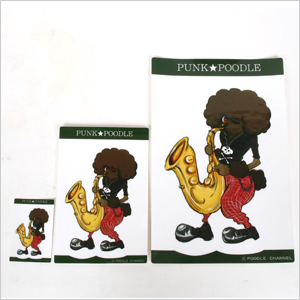 Large original PUNK ★ POODLE sticker (saxophone)