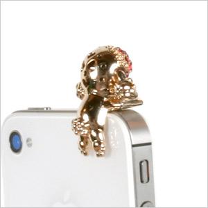 キラデコスマホピアスプードルプードル / miscellaneous goods / carrying / accessories / earphone Jack / smartphone /iPhone