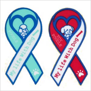 """リボンミニ sticker """"My life With Dog poodle poodle / gadgets / seals / stickers / stationery / toy / dogs / dog"""