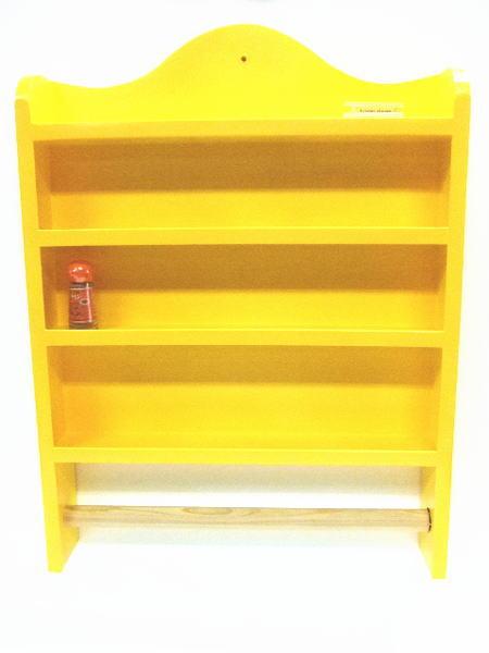 Wood Shelf -キッチン棚 yellow